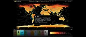 4 degrees Global Warming Map